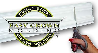 "4"" Peel & Stick Easy Crown Molding XL room kit 85' Kit makes Pre-cut corners. 3M"