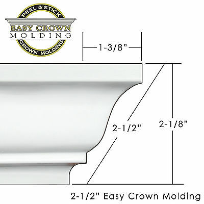 Peel & Stick Easy Crown Molding - small room  Kit includes 4 outside corners.