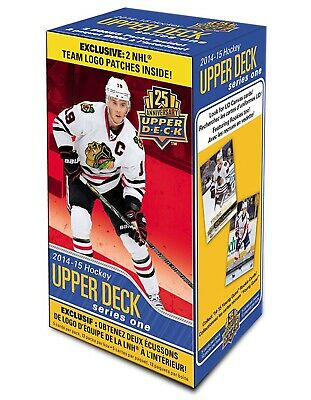 2014-15 Upper Deck Series 1 hockey cards Blaster Box, with Team Logo Patches