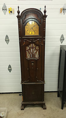 ANTIQUE L.S. BRACH ELECTRIC CLOCK /GRANDFATHER CLOCK/RADIO, 1920s ? HEIGHT 70""