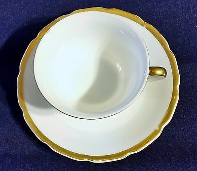 Vintage Cup And Saucer Made In Occupied Japan White With Gold Trim