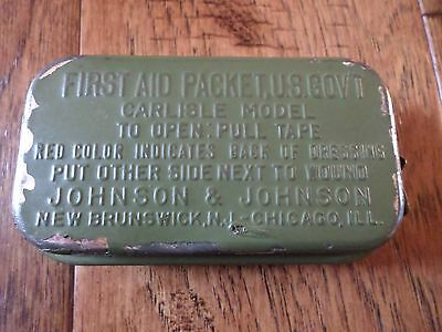 U.s Military Wwii First Aid Package Carlisle  Model Tin Original