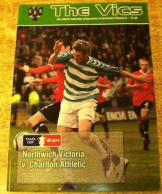 2009/10 FA CUP 1ST ROUND - NORTHWICH VICTORIA v CHARLTON ATHLETIC - 8 OCTOBER +