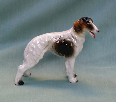 BORZOI RUSSIAN WOLFHOUND SIGHTHOUND CERAMIC FIGURINE c1923