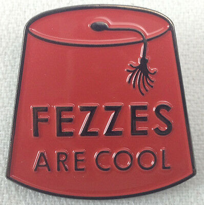 11th Doctor - FEZZES ARE COOL - New Doctor Who TV Series Themed - Enamel Pin
