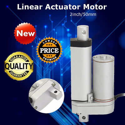 DC 12V 2'' 900N Linear Actuator Motor Adjustable Electric Heavy Duty Lifting