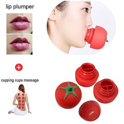 Lip Plumping Enhancer Pump for Plumper Full Lips Enlarger & all 3 Styles Cup Set