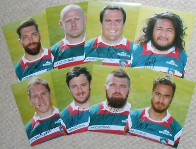 """Marcos Ayerza Hand Signed Leicester Tigers 10"""" x 8"""" Rugby Union Photo."""