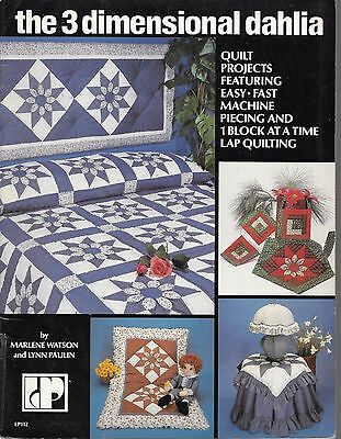 the 3 dimensional dahlia quilt projects machine piecing vintage 1982 book USA