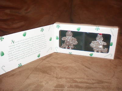 Longaberger Set of 2 Roger & Ginger Pewter Ornaments - New in Box