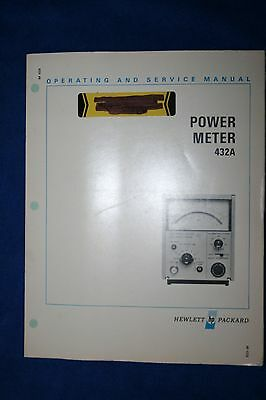 Hp 432A Power Meter Operating & Service Manual With Schematics