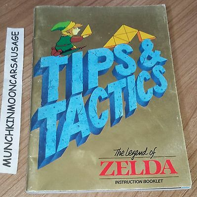 RARE The Legend Of Zelda Tips & Tactics Official Nintendo NES 100+ Page Booklet