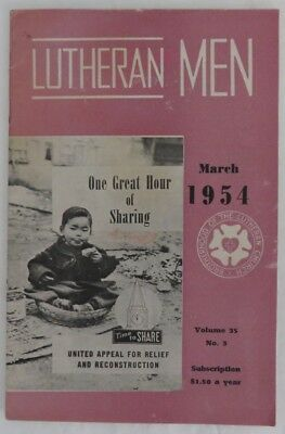 1954 Lutheran Men Booklet - March                 (Inv13205)