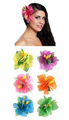 Hawaiian Hibiscus Flower Hair Clip Hawaii Luau Tropical Garland Hula Beach Party