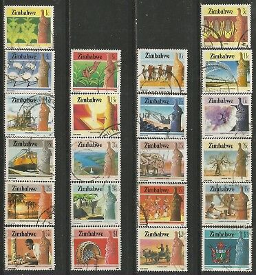 ZIMBABWE 1985 DEFINITIVE AGRICULTURE Sc#493-514 COMPLETE POSTALLY USED SET 0490