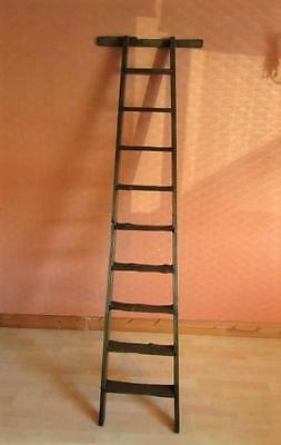 Antique Rustic Wooden Signwriter 7ft Ladder Towel Rail. Display Only Not for use