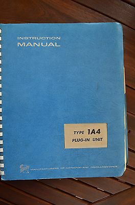 Tektronix 1A4 Plug-in  Instruction Manual with Schematics