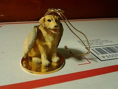 YELLOW LAB dog ANGEL Ornament Figurine Christmas LABRADOR RETRIEVER puppy