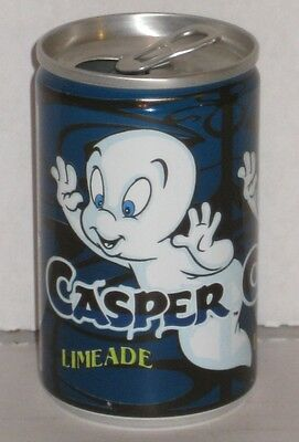 Casper Friendly Ghost Ghostly Limeade Soda Pop Can UK England 1995 Harvey Comics