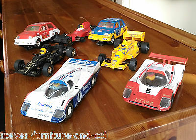 Collection Of 7 Vintage Scalextric Slot Cars - Free Uk P&p