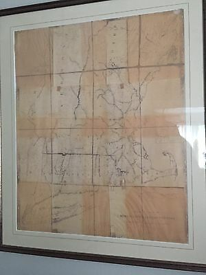 Antique Railroad Map, New England/Eastern NY 1849