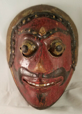 Antique Indonesian Java Javanese Polychrome Mask