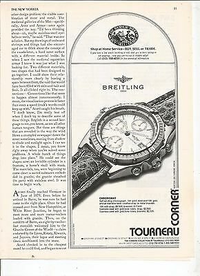 new yorker 1991  breitling  watch    PRINT AD