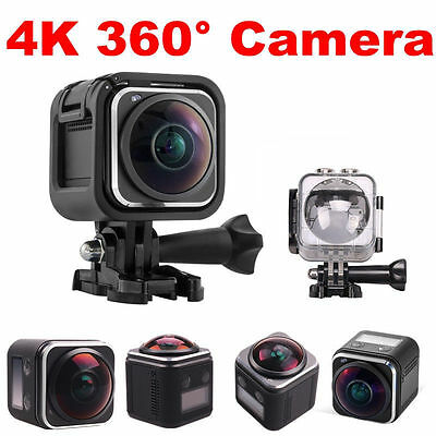 16MP Ultra 4K WiFi HD 360 Degree Panoramic DVR Sports Action Camera Camcorder