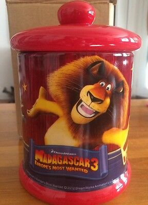 Archway Cookies Madagascar 3 Limited Edition cookie jar 2012 New