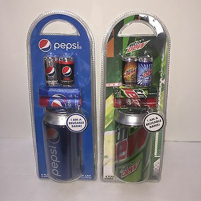 Pepsi Cola & Mountain MTN Dew Bank Cans 8 Flavored Lip Balms lot chapstick style