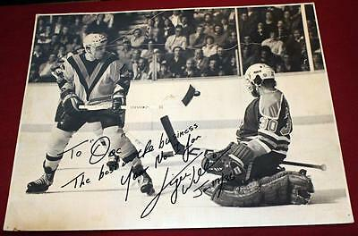 1986 16x20 Vancouver Canucks Signed PHotos from Staff Collection Tiger Williams!