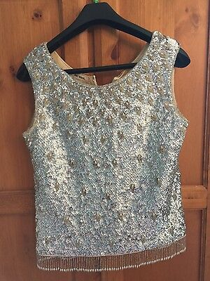 Vintage beaded flapper style top 50's/60's