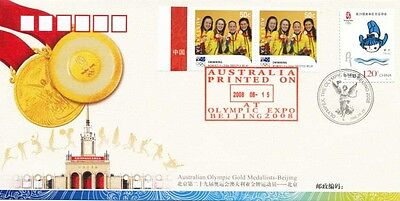 Olympic Gold Medallist Souvenir Fdc's Beijing 2008 Complete Set Of 14 Covers