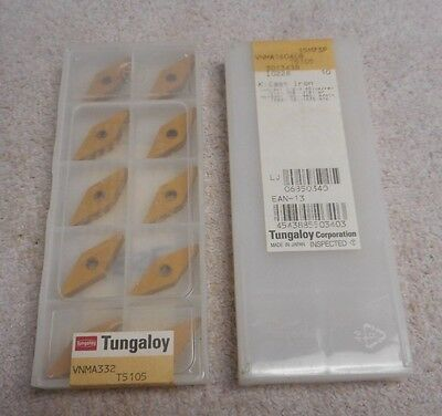 Tungaloy    Carbide  Inserts    Vnma 332     Pack Of 10     Grade  T5105