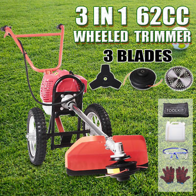 Wheeled Petrol Brush Cutter String Trimmer Whipper Snipper Mower Brushcutter