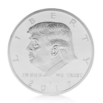 American 45th President Donald Trump Silvery Commemorative Coins Token Hot