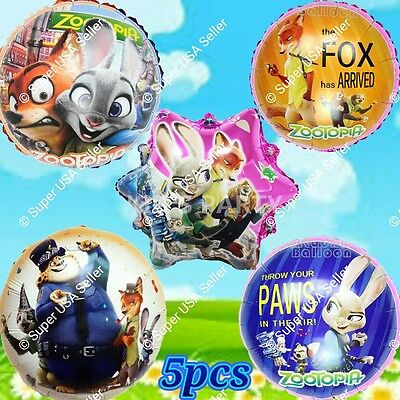 ZOOTOPIA BALLOONS Zoo Animals Disney Decor Shower Birthday Party Supplies Lot E