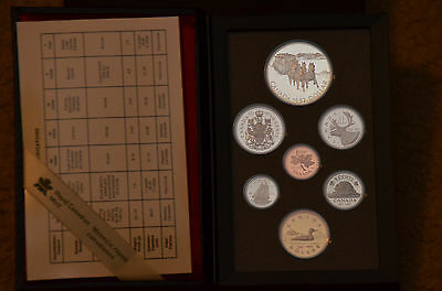 Canada 1992 Seven Coin Silver Double Dollar Proof Set in original case, papers