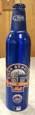 2008 Bud Light MLB New York Mets Shea Stadium Aluminum Bottle Beer Can #501238