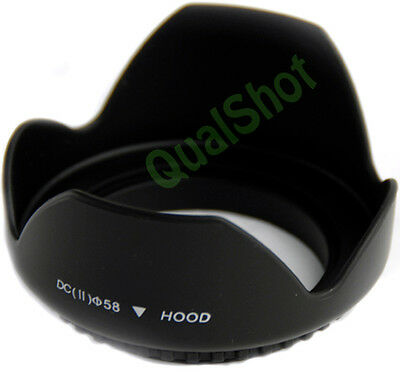 PROTECTOR LENS HOOD FOR Canon Rebel XSi XT XTi 18-55mm