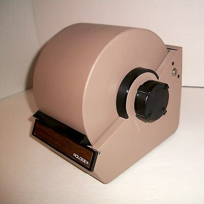 Vintage ROLODEX Steel Metal Covered Rotary Card File With Cards