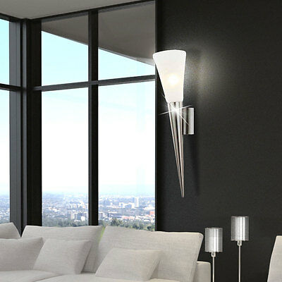 luxus led wand lampe esszimmer flur fackel glas strahler leuchte silber eek a eur 29 90. Black Bedroom Furniture Sets. Home Design Ideas