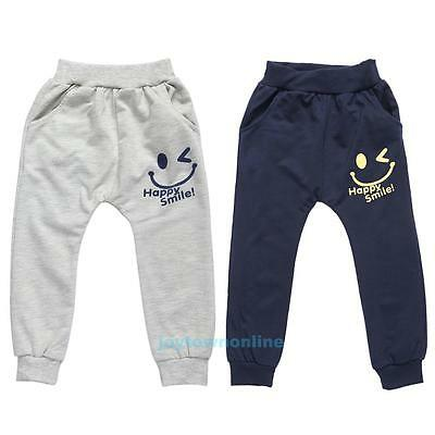 2-7Y Kids Baby Boys Girls Harem Pants Toddler Printed Trousers Bottoms Sweatpant