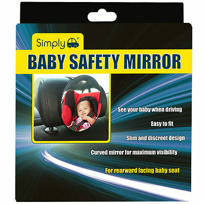 Car Rear Seat Large Wide View Baby Child Seat Safety Mirror Headrest Mount