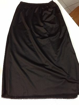 Retro Black Petticoat Size 12 Unbranded  Double Side Splits