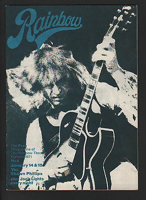 The London Rainbow Theatre Free Programme 1971 (N° 8) Yes Shawn Phillips Byrds