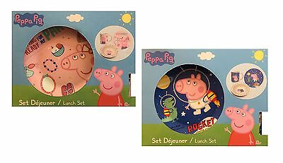 Peppa Pig 3 Piece Childrens Ceramic Lunch Dinner Breakfast Set