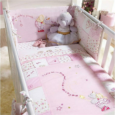 Brand new in bag Izziwotnot lottie fairy princess cot and cot bed quilt & bumper