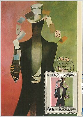 63512 - CZECHOSLOVAKIA - POSTAL HISTORY: MAXIMUM CARD 1970 -  ART Playing cards