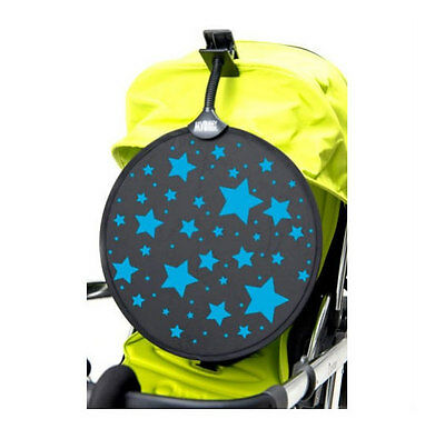 New in pack My buggy buddy blue stars clip on sunshade for pram and pushchair